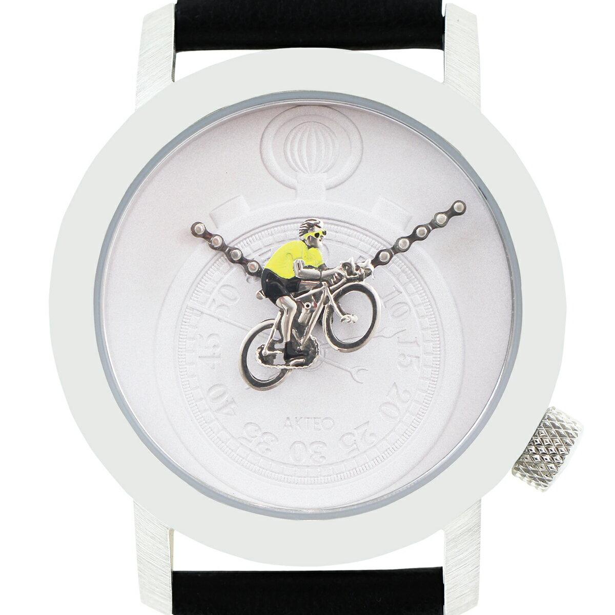 アクテオ AKTEO   腕時計  34mm CYCLIST 02  時計 ブラック フランス製【05P03Dec16】【05P03Dec16】 正規品。アートとテクノロジーが完璧に融合!フランスの「時計の街」から歴史と伝統の確かな技術を。