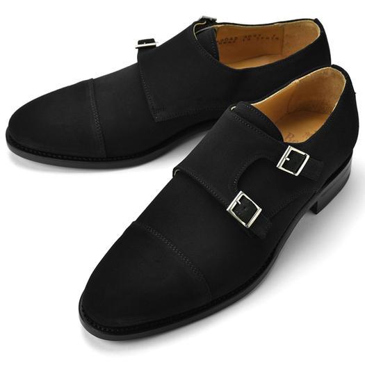 バーウィック BERWICK ダブルモンクストラップ 3637 スエード ブラック 【サイズ交換無料】【ドレスシューズ 革靴 ビジネス メンズ インポート】
