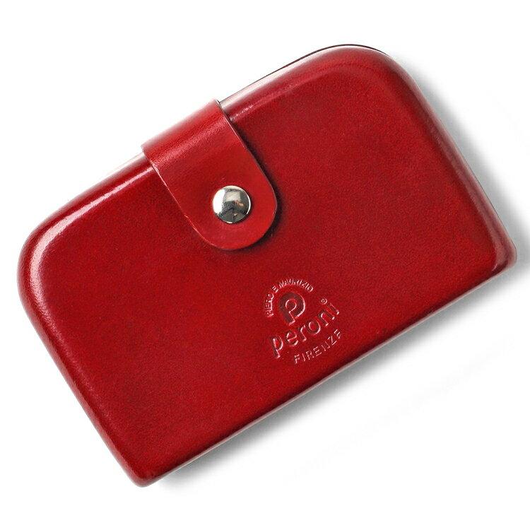 ペローニ PERONI FIRENZE ミニ財布 / 小財布 / スモールウォレット レッド 赤 コインケース / カードケース / 札入れ GIRAMOND(ジラモンド) 【小さい財布 コンパクト 本革 レザー メンズ レディース】