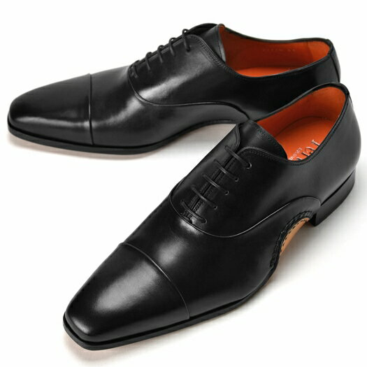 PERTINI ペルティニ オパンケ ストレートチップ 22770-2 ブラック【サイズ交換無料】 【ドレスシューズ 革靴 ビジネス メンズ インポート】PERTINI