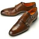 PERTINI ペルティニ ダブルモンクストラップ 23726 ブラウン 【サイズ交換無料】【ドレスシューズ 革靴 ビジネス メンズ インポート】