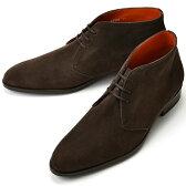【楽天スーパーSALE】【通常 36,720円】PERTINI ペルティニ チャッカブーツ 22986 スエード ダークブラウン【ドレスシューズ 革靴 メンズ インポート】PERTINI
