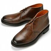 【楽天スーパーSALE】【通常 69,960円】【返品不可】サントーニ SANTONI 10002 チャッカブーツ ブラウン シボ革【ドレスシューズ 革靴 ビジネス メンズ】