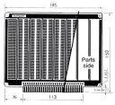 サンハヤト(Sunhayato) 端子付きユニバーサル基板 CPU-108G