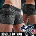 【DIESEL ディーゼル】 BATMAN TRUNK / Cotton Stretch 【バットマン・UMBX-SHAWN】 (ボクサーパンツ)【男性下着 メンズ 下着】【楽ギフ_包装】【RCP】
