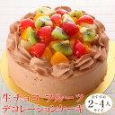 生チョコ フルーツ デコレーションケーキ (*冷凍ケーキ ホ...