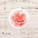 【メール便OK】Thank you! ありがとう気持ちを伝えるふんわり優しいタッチのお花スリット式タ