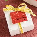 [メール便OK]バレンタインの贈り物 ロマンティックな赤いバレンタインタグ10枚入