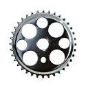 送料無料 チェーンリング ラッキー7 クローム 36T コンポーネント スプロケ クランク スプロケット メッキ 自転車 パーツ ローライダー ビーチクルーザー 自転車部品 アクセサリー カスタム 部品 改造 BMX MTB サイクルパーツ Schwinn エレクトラ レインボー コンプトン
