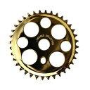 送料無料 チェーンリング ラッキー7 ゴールド 36T コンポーネント スプロケ クランク スプロケット メッキ 自転車 パーツ ローライダー ビーチクルーザー 自転車部品 アクセサリー カスタム 部品 改造 BMX MTB サイクルパーツ Schwinn エレクトラ レインボー コンプトン