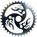 送料無料 チェーンリング ファイヤー クローム 36T コンポーネント スプロケ スプロケット メッキ 自転車 パーツ ローライダー ビーチクルーザー 自転車部品 アクセサリー カスタム 部品 改造 BMX MTB サイクルパーツ Schwinn エレクトラ レインボー コンプトン