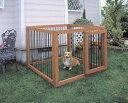 小型犬・中型犬に適合したサイズの屋外用木製ペットサークル