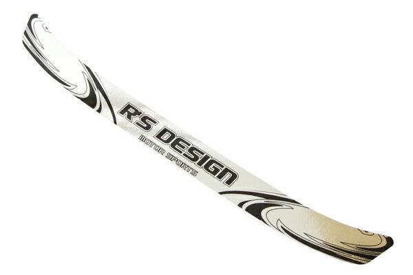 R's design クローム バイザーステッカー クロームシルバー+ブラック