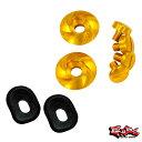 GAZE ゲイズ スクリューセット ゴールド アルマイト + プラスチックパーツ付き ARAI ヘルメット・バイザーシールド用