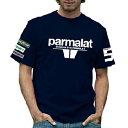 PARMALAT BRABHAM Mens T-shirt レトロ F1 Tシャツ
