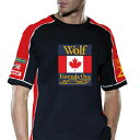 RETRO GP WOLF RACING CONTRAST Mens T-shirt レトロ F1 Tシャツ (RFO-WOL-CT)