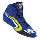 OMP TECNICA EVO SHOES ブルー×イエロー レーシングシューズ FIA8856-2000公認 (IC/803E044)