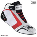 OMP KS-1 SHOES ホワイト×ブラック×レッド レーシングシューズ レーシングカート・走行会用 (IC815120)