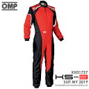 OMP KS-3 SUIT レッド×ブラック レーシングスーツ CIK-FIA LEVEL-2公認 レーシングカート・走行会用 (KK01727073)