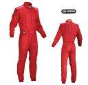 OMP FIRST S(ファーストS) レーシングスーツ レッド FIA8856-2000公認
