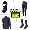 OMP インナーウエア セット TECNICA BLACK (テクニカ ブラック) / IAA724 (インナー上下/フェイスマスク/ソックス) FIA8856-2000公認