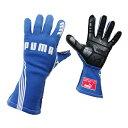 PUMAレーシンググローブ PODIO(ポディオ)ブルー 外縫い シリコンラバー タイプ FIA公認 040839-03