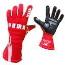 PUMAレーシンググローブ PODIO(ポディオ)レッド 外縫い シリコンラバー タイプ FIA公認 040839-02