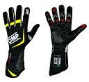 OMPレーシンググローブ ONE EVO GLOVES Black/fluo yellow(ブラック/蛍光イエロー )上級モデル FIA公認8856-2000