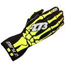 -273 Skeletal Karting Glove Fluo マイナス273 スケルタル レーシングカートグローブ イエロー