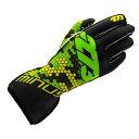 -273 Buzzz Black×Green×Yellow Karting Glove マイナス273 バズ ブラック×グリーン×イエロー レーシングカートグローブ