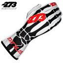 -273 Skeletal White×Black×Red Glove マイナス273 スケルタル ホワイト×ブラック×レッド レーシングカート・走行会用グローブ
