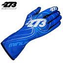 -273 Zero EVO Blue×White×Cyan Glove マイナス273 ゼロ エボ ブルー×ホワイト×シアン レーシングカート・走行会用グローブ