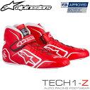 アルパインスターズ レーシングシューズ TECH1-Z レッド×ホワイト (32) FIA8856-2000公認モデル (2715015-32)