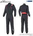 アルパインスターズ GP PRO COMP SUIT ブラック×レッド (13) レーシングスーツ FIA8856-2000公認モデル (3352019-13)