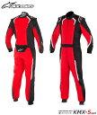 アルパインスターズ KMX-5 SUIT ブラック×レッド×ホワイト(132) レーシングスーツ レーシングカート・走行会用 CIK FIA N/2013公認 (33..