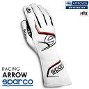 SPARCO スパルコ レーシンググローブ ARROW (アロー) ホワイト×レッド FIA8856-2018公認 (001314_BIRS)