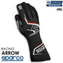 SPARCO スパルコ レーシンググローブ ARROW (アロー) ブラック×レッド FIA8856-2018公認 (001314_NRRS)