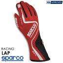 SPARCO スパルコ レーシンググローブ LAP (ラップ) レッド×ブラック FIA8856-2000公認 (001315_RSNR)