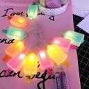 デコレーションライト LED 電球 オーナメント 10連 電池式 (アイスキャンディー)
