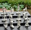置物 ヨガの主要ポーズ12種 陶磁器製 12個セット