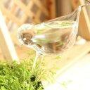 ガーデンオブジェ 給水器 小鳥さん型 ガラス製