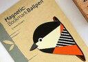 【メール便送料無料・お届け日時指定不可】しおり マグネット式 かわいい鳥 ペン機能付き 2個セット (シジュウカラ)
