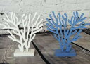 置物 マリン風 珊瑚 ブルー ホワイト 2個セット