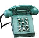 オブジェ 貯金箱 ビンテージ風 レトロ 電話機 グリーン