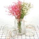 フラワーベース 飾り瓶 シンプル カントリー 3サイズセット ガラス製 (クリア)
