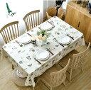 テーブルクロス ティータイム パン リーフ カップ柄 PVC製 防水防油加工 (長方形B 135×200cm)