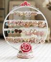 ピアススタンド 薔薇モチーフ 丸型 ロマンチック雑貨