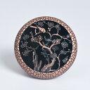 香炉 美しい植物モチーフ 透かし 亀裂模様 和モダン 金属製 ブロンズ (梅)