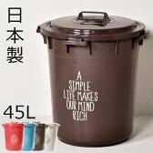日本製 丸型カラーペール 45L ゴミ箱 ごみ箱 ダストボックス ふた付き おしゃれゴミ箱 分別ゴミ箱 屋外ゴミ箱 45リットル可ゴミ箱 キッチンゴミ箱 インテリア雑貨 北欧テイスト かわいいゴミ箱 デザインゴミ箱 生ごみゴミ箱 オムツゴミ箱 収納ゴミ箱 大容量ゴミ箱