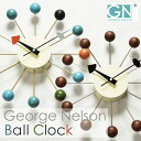 正規ライセンス取得 George Nelson ジョージ・ネルソン ボール・クロック 時計 ネルソンクロック 掛け時計 掛時計 壁掛け時計 壁掛時計 おしゃれ デザイナーズ リビング ウォールクロック レトロ モダン インテリア雑貨 復刻版 リプロダクト ギフト ウォルナット